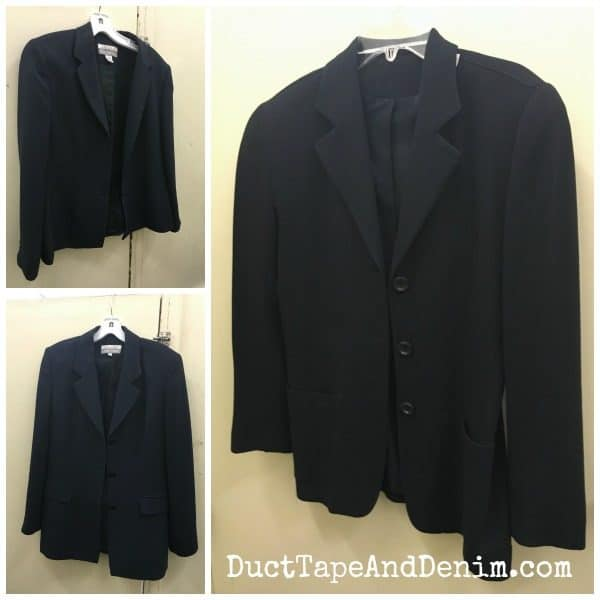 Navy blazers from Goodwill ~ spring jackets from thrift stores ~ fashion thrift store haul ~ DuctTapeAndDenim.com