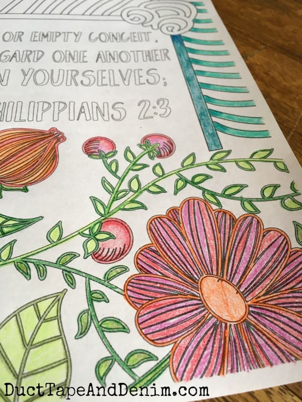 FREE Scripture Coloring Pages, Philippians 2:3