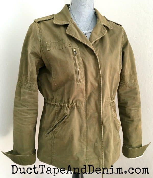 Utility jacket ~ spring jacket ~ thrift store fashion ~ DuctTapeAndDenim.com