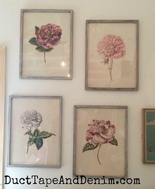 Beautiful vintage flower prints at Harp Designs in Waco | DuctTapeAndDenim.com
