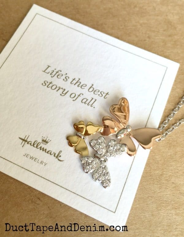 Butterfly necklace with Hallmark card | DuctTapeAndDenim.com