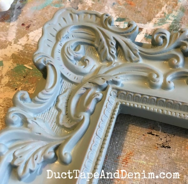 DIY Picture Frame Project in Blue, Gray, and White