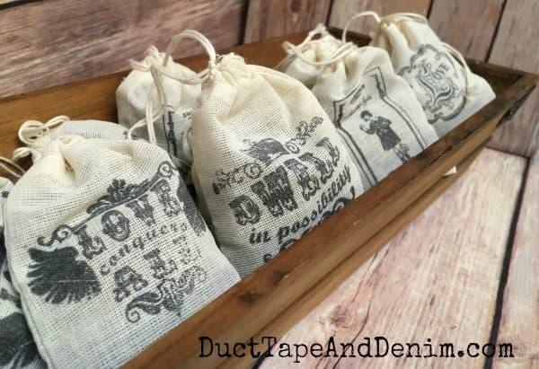 DIY lavender sachets on DuctTapeAndDenim.com