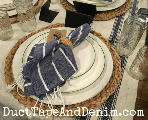 Farmhouse place setting at Magnolia Market | DuctTapeAndDenim.com