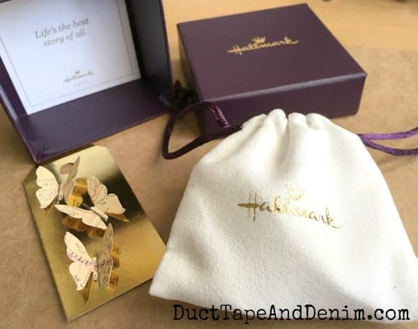 Hallmark butterfly necklace packaging | DuctTapeAndDenim.com