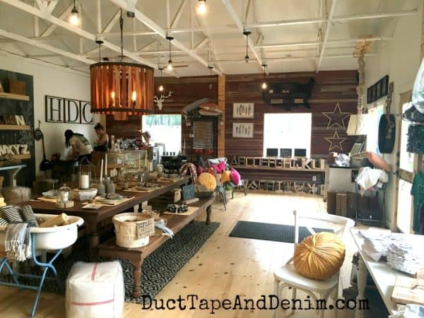 Inside Harp Designs shop in Waco | DuctTapeAndDenim.com