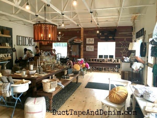 Inside Harp Designs shop in Waco | DuctTapeAndDenim.com