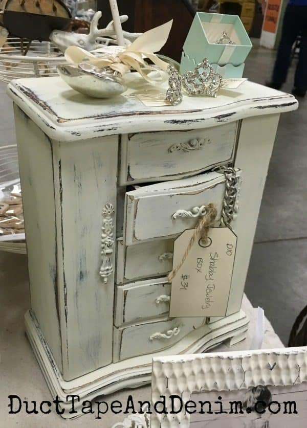 Jewelry Cabinet Makeover at Mes Amis Vintage Market | DuctTapeAndDenim.com