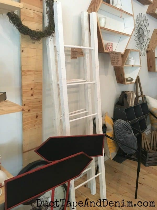 Ladder at Harp Design in Waco | DuctTapeAndDenim.com