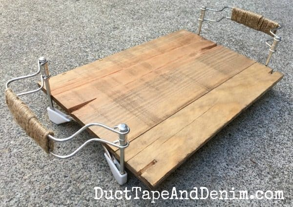 My DIY thrift store upcyled tray, DIY tray makeover | DuctTapeAndDenim.com