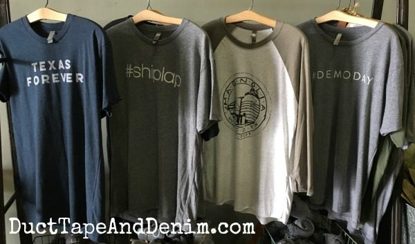 #shiplap #demoday Texas Forever & Magnolia Farms t-shirts | DuctTapeAndDenim.com