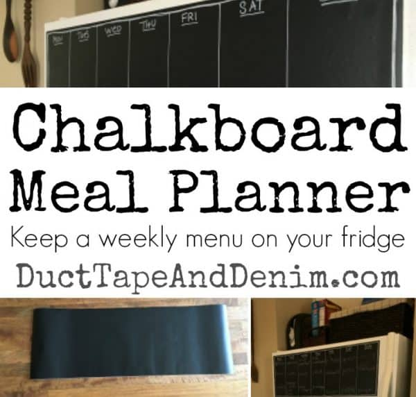 Chalkboard Meal Planner - square | My refrigerator | DuctTapeAndDenim.com