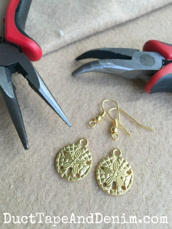 How to make earrings ~ DIY earrings ~ more earring tutorials on DuctTapeAndDenim.com