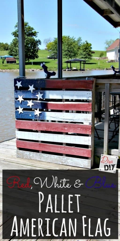 American flag pallet DIY, more 4th of July decorations to make on DuctTapeAndDenim.com