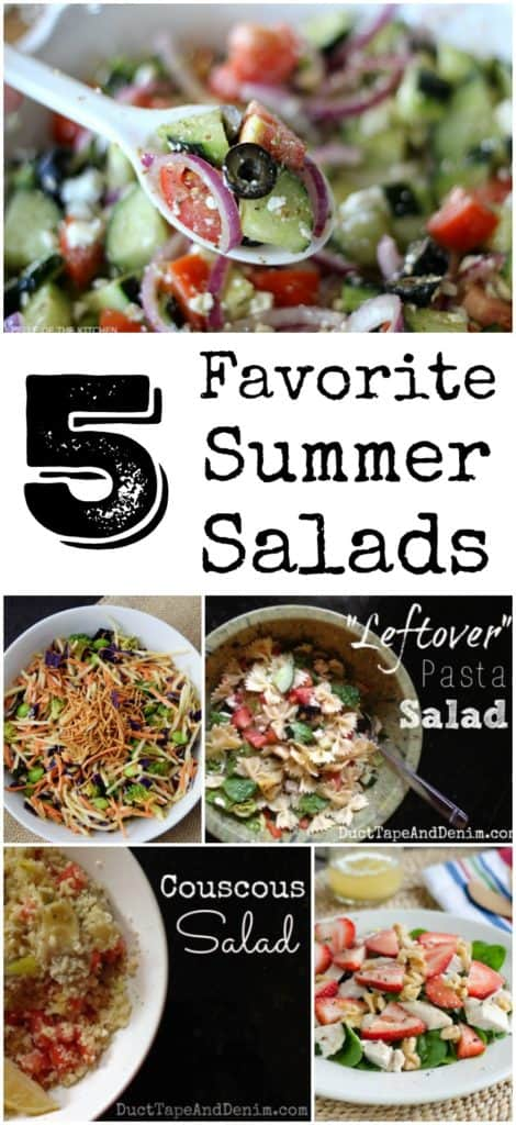 5 Favorite Summer Salads | DuctTapeAndDenim.com