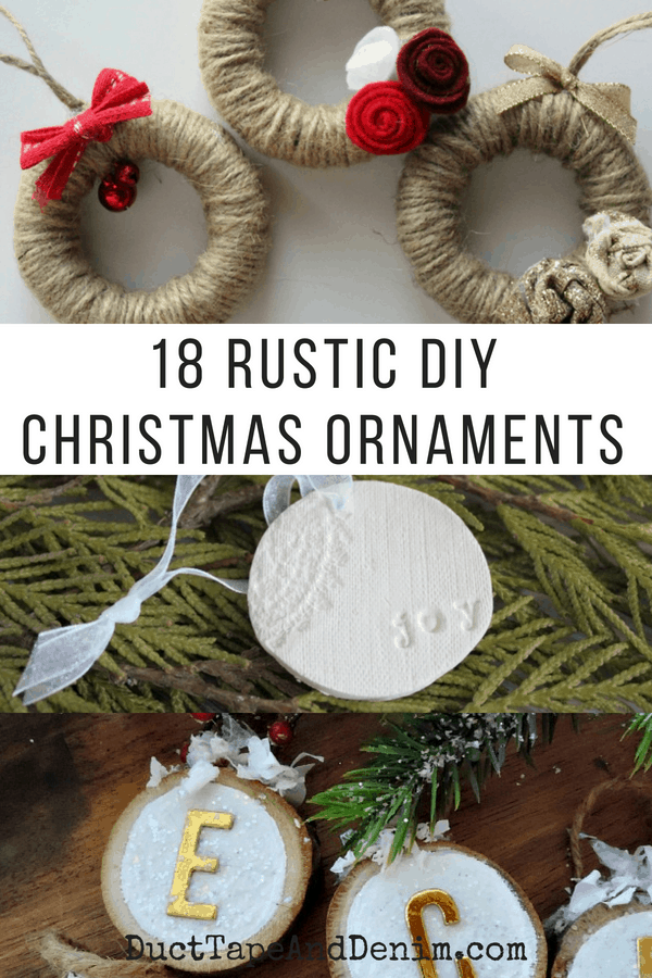 18 DIY Rustic Christmas Ornaments, collage 2