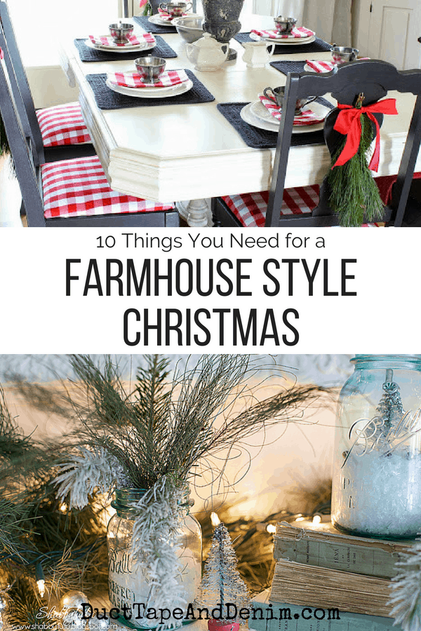 farmhouse style christmas, collage 1