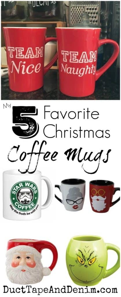 My 5 Favorite Christmas Coffee Mugs | DuctTapeAndDenim.com