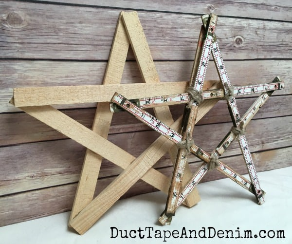 How to Make a Vintage Style Wood Christmas Tree Star