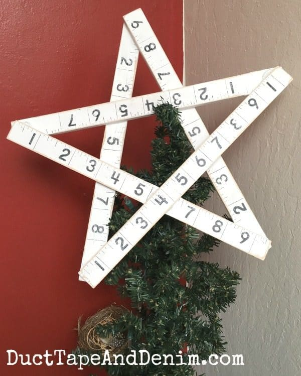 Finished handmade Christmas star tree topper | DuctTapeAndDenim.com
