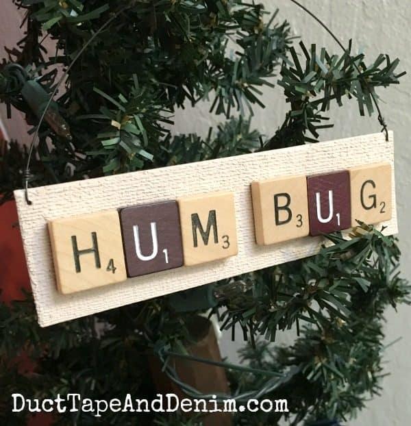 Humbug Scrabble ornament | DuctTapeAndDenim.com