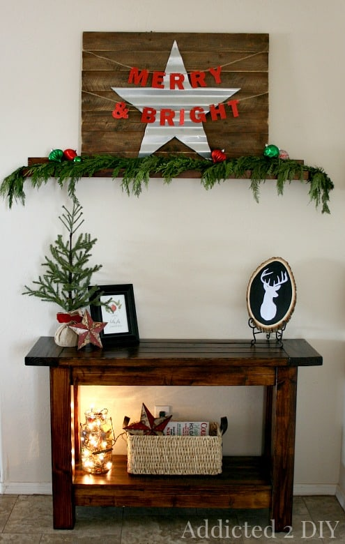 Farmhouse Christmas vignette