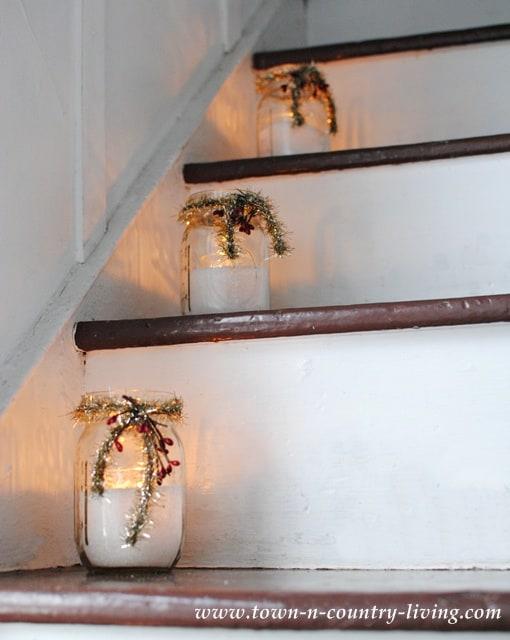 Mason jar candle holders.