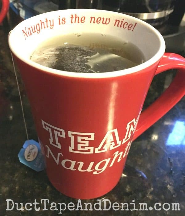 Naughty is the new nice, Team Naughty Christmas mug | DuctTapeAndDenim.com