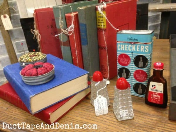 Red, white, and blue vignette. Top 10 thrift store tips.   DuctTapeAndDenim.com
