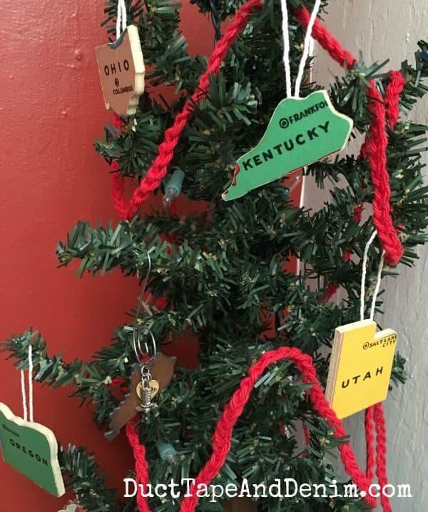 State puzzle piece Christmas ornaments | DuctTapeAndDenim.com