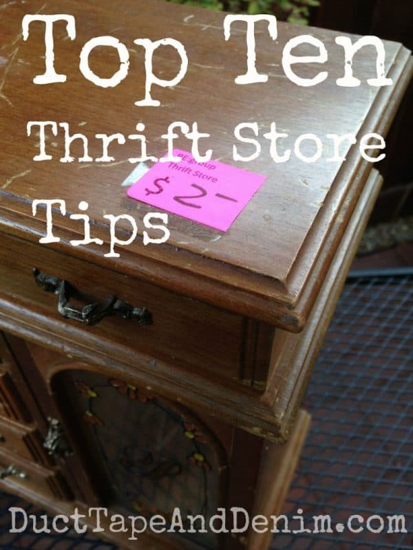 Top Ten Thrift Store Tips | DuctTapeAndDenim.com