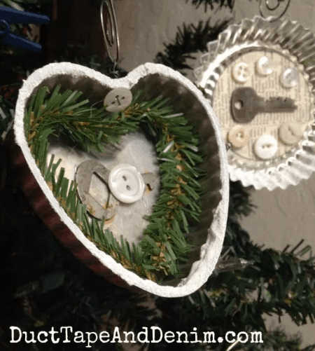 Vintage tart tin Christmas ornament | DuctTapeAndDenim.com