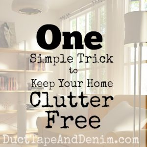 one simple way to keep your home clutter free | DuctTapeAndDenim.com