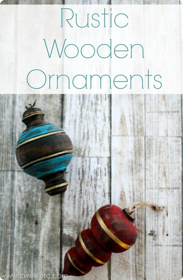 Rustic wooden ornaments. More DIY Christmas ornament ideas on DuctTapeAndDenim.com