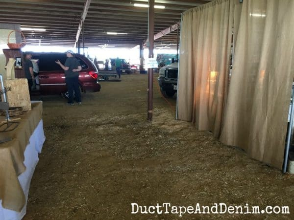 BEFORE setting up at Vintage Market Days Waxahachie Texas | DuctTapeAndDenim.com