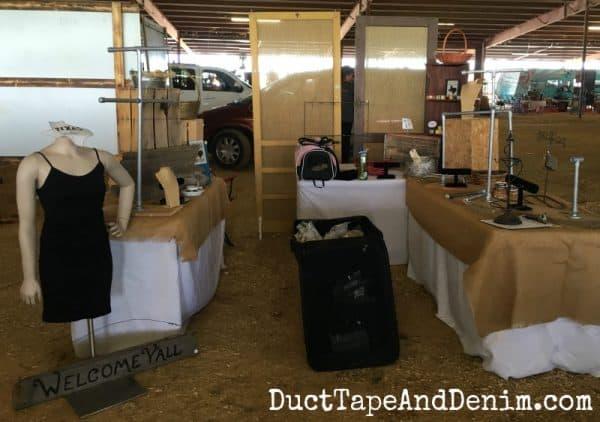 Setting up for Vintage Market Days Waxahachie Texas | DuctTapeAndDenim.com