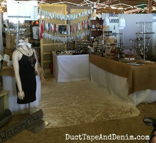 My booth at Vintage Market Days Waxahachie Texas | DuctTapeAndDenim.com