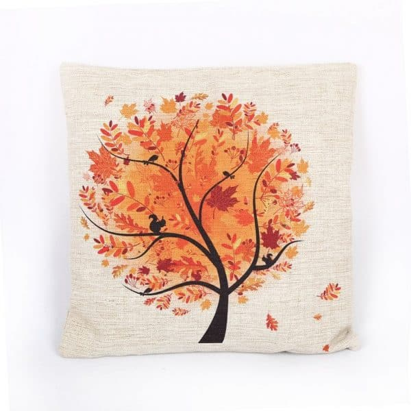 Autumn Tree and more fall pillow covers under $10 on DuctTapeAndDenim.com
