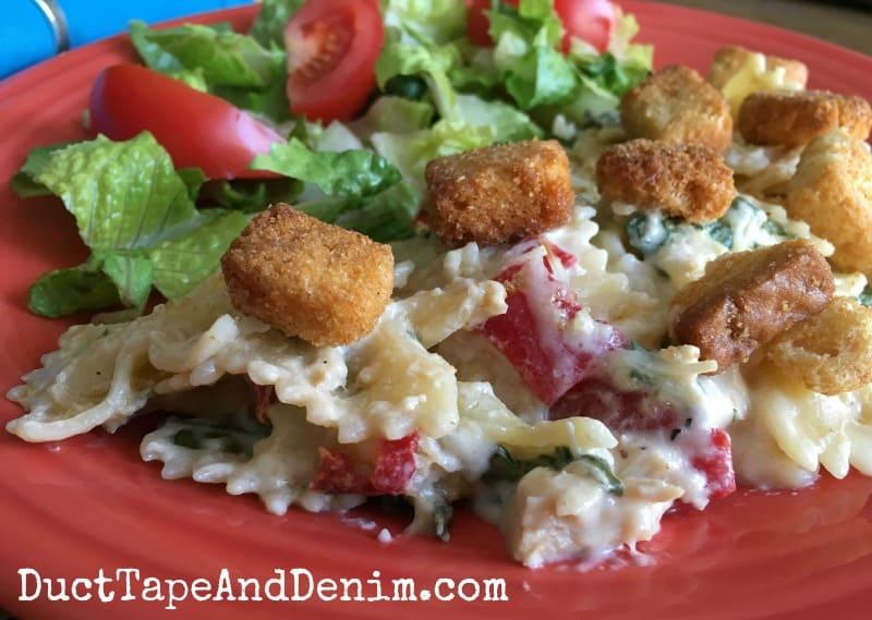 Baked Caesar Chicken Pasta Recipe, Quick Easy Weeknight Meal