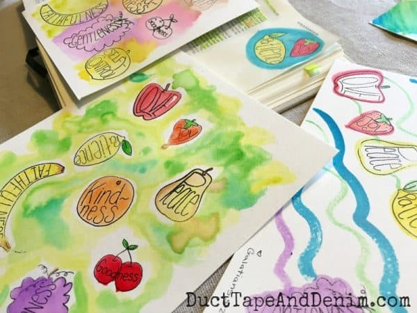 Bible journaling stamps, fruit of the Spirit craft | DuctTapeAndDenim.com