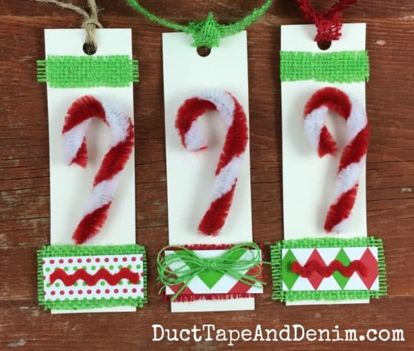 Candy Cane Christmas Gift Tags, Quick Easy DIY Craft