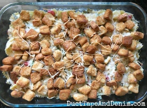 Chicken Caesar pasta baked | DuctTapeAndDenim.com