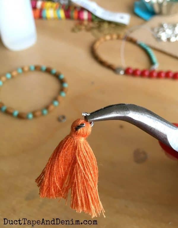 DIY tassel bracelets | DuctTapeAndDenim.com