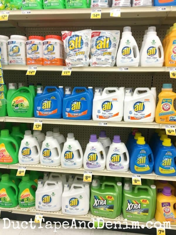 Detergent aisle at Lucky's | DuctTapeAndDenim.com