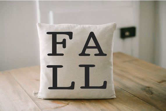FALL pillow and more pillows under $25 on DuctTapeAndDenim.com