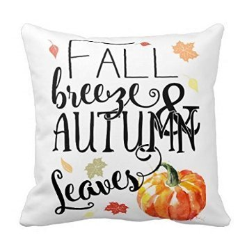 Fall breeze and autumn leaves pillow cover