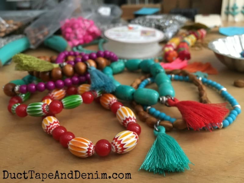 Colorful Tassel Bead Bracelet DIY Tutorial