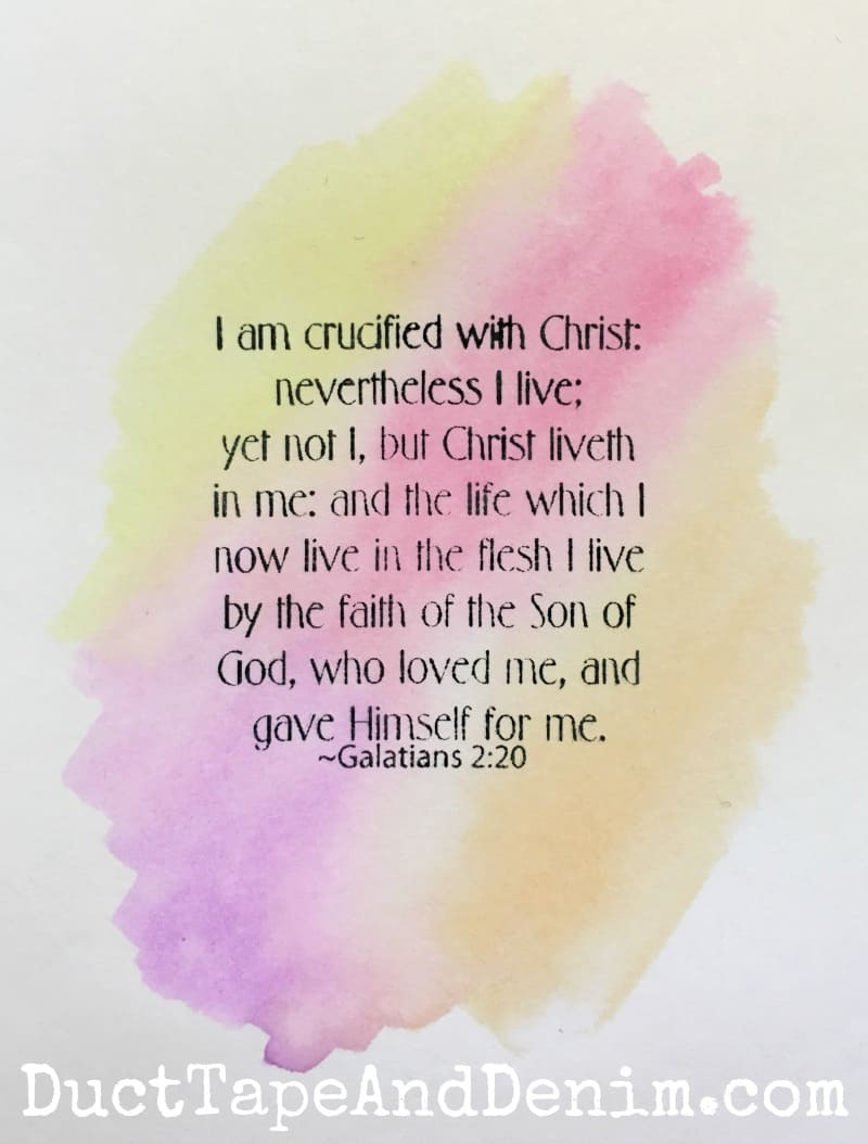 Galatians 2:20 Watercolor Cards
