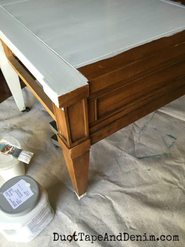 Painting thrift store end table. Chalk mix paint