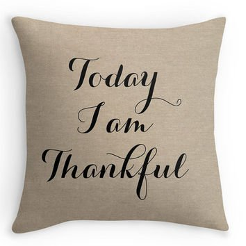Today I am Thankful pillow cover.